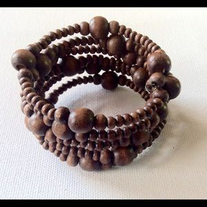 Boho Hippie Wood  Wrap Bracelet